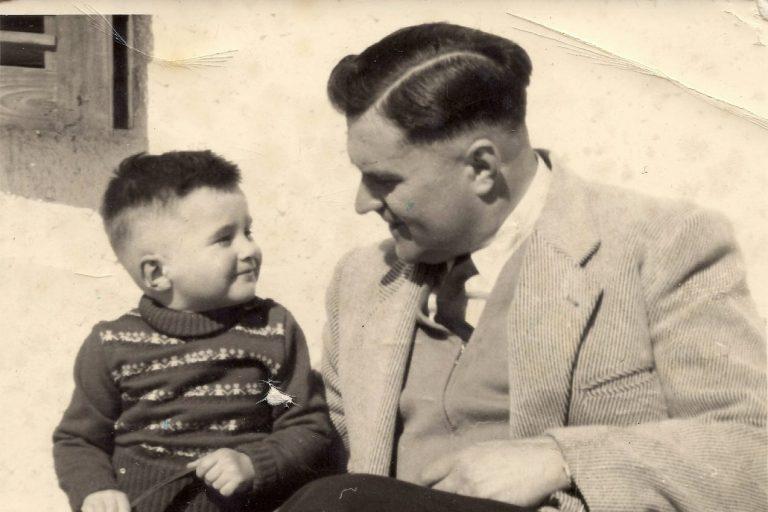 Dr. Helmut Waldner mit seinem Sohn